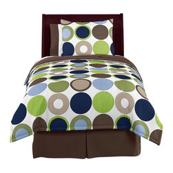 Sweet Jojo Designs - Designer Dot 4-Piece Twin Bedding Set by Sweet Jojo Designs - The Designer Dot 4-Piece Twin Bedding Set by Sweet Jojo Designs, along with the  bedding accessories.