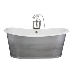 "Penhaglion - 'The Pershore73' 73"" Cast Iron French Bateau Tub Package from Penhaglion - Product Details"