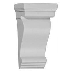 """Ekena Millwork - 3 1/2""""W x 2 1/4""""D x 6 1/8""""H Norwich Pilaster Corbel - 3 1/2""""W x 2 1/4""""D x 6 1/8""""H Norwich Pilaster Corbel. These corbels are truly unique in design and function. Primarily used in decorative applications urethane corbels can make a dramatic difference in kitchens, bathrooms, entryways, fireplace surrounds, and more. This material is also perfect for exterior applications. It will not rot or crack, and is impervious to insect manifestations. It comes to you factory primed and ready for your paint, faux finish, gel stain, marbleizing and more. With these corbels, you are only limited by your imagination."""