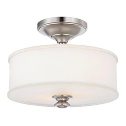Minka Lavery - Minka Lavery ML 4172 2 Light Semi-Flush Ceiling Fixture in Brushed Nickel from t - Two Light Semi-Flush Ceiling Fixture in Brushed Nickel from the Harbour Point CollectionFeatures: