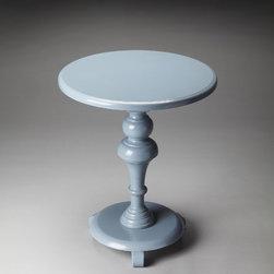 Butler - Butler Butler Loft Pedestal Table In Glossy Wedgewood - Butler Butler Loft Pedestal Table In Glossy Wedgewood