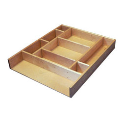 "Rev-A-Shelf - Rev-A-Shelf LD-4CT15-1 Wood Drawer Organizer Kit - The Rev-A-Shelf LD-4CT15-1 Wood Drawer Organizer Kit is all about customization. This solid birch insert kit allows you to accommodate a wide range of different kitchen items, and is very easy to assemble. This drawer organizer kit comes with 18 clips, which can be inserted into any of the pre-drilled holes for optimal versatility. The kit also includes wood dividers to help separate kitchen utensils exactly the way you want to. And as your storage needs change with time, it's simple to alter to meet those needs. Plus, the solid birch wood clear UV-cured coating creates a beautiful finish that will look fabulous for many years to come. Designed for a base 12 drawer. Size specifications: 9-7/8"" W x 19-1/8"" D x 2-1/2"" H."