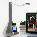 DIVA TABLE LAMP BY ROTALIANA LIGHTING - Diva by Rotaliana is a multi functional LED table lamp designed for your iPod or iPhone.