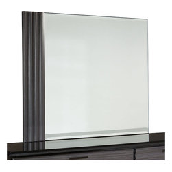 Standard Furniture - Standard Furniture Reaction Rectangular Mirror in Black and Grey - A combination of smooth and textured black and grey surfaces on clean square profiles creates reactions distinctive modern look.