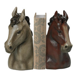 Sterling Industries - Horse Head Bookends-Horse Head Book Ends - Horse Head Bookends-Horse Head Book Ends