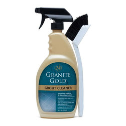 Granitegold - Granitegold Granite Gold Grout Cleaner - 4 Pack - When cleaning tile grout, ordinary grout cleaners can harm surrounding surfaces. Granite Gold Grout Cleaner quickly and safely deep cleans soiled grout, and is safe on stone, tile, porcelain, colored grout, ceramic and glass. The lightly citrus-scented grout cleaner is ready to use and safe on colored grout. Safe on food-prep surfaces. . Non-toxic. Non-acidic. . pH Balanced. Biodegradable. . No phosphates or ammonia. . Includes Granite Gold Grout Brush to agitate and remove dirt. .