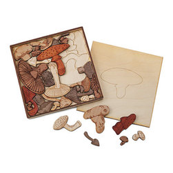 Mushroom Puzzle - I love it when my children play with puzzles; they're so wonderful for building problem-solving skills. These mushrooms are totally cool.