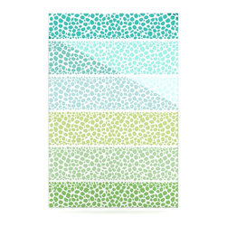 """Kess InHouse - Pom Graphic Design """"Zen Pebbles"""" Green Teal Metal Luxe Panel (16"""" x 20"""") - Our luxe KESS InHouse art panels are the perfect addition to your super fab living room, dining room, bedroom or bathroom. Heck, we have customers that have them in their sunrooms. These items are the art equivalent to flat screens. They offer a bright splash of color in a sleek and elegant way. They are available in square and rectangle sizes. Comes with a shadow mount for an even sleeker finish. By infusing the dyes of the artwork directly onto specially coated metal panels, the artwork is extremely durable and will showcase the exceptional detail. Use them together to make large art installations or showcase them individually. Our KESS InHouse Art Panels will jump off your walls. We can't wait to see what our interior design savvy clients will come up with next."""