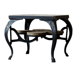 Marco Polo Imports - Redfield Parlor Dining Table - This clever dining table was inspired by authentic European antiques and reproduced by seasoned artisans to capture the look of Old World craftsmanship. Every delicious detail - carving or ironwork to painting or patina - is done by hand. The 4 integrated swivel stools are a practical and space saving element of this unique table.