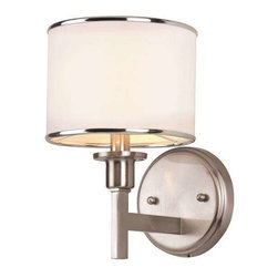 Trans Globe Lighting - Trans Globe Lighting 1051 BN Wall Sconce In Brushed Nickel - Part Number: 1051 BN