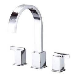 """Danze - Danze® Sirius™ Roman Tub Faucet Trim Kit - Chrome - Danze® products are beautiful inside and out, from our rich, lustrous finishes to our ceramic disc valves with a Drip-Free guarantee to our solid brass waterways. Bathroom or art gallery? The Sirius™ Collection blurs the line between form and function and will have your friends and guests marvelling at your distinctive taste. Available in multiple finishes. Also available with Personal Shower. REQUIRES 10"""" CC valve (D210000BT) or Widespread valve (D215000BT). Features High-rise solid brass spout Slip spout mounting Installs in decks up to 3"""" thickness Manufacturer's limited """"lifetime"""" warranty ADA Compliant View Spec Sheet"""