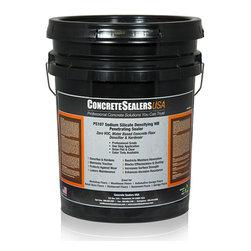 Concrete Sealers USA - PS107 Sodium Silicate Densifying WB Penetrating Sealer (5 gal.) - Zero VOC, Water Based Concrete Floor Densifier & Hardener
