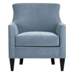 Clara Chair, Sky Dune Velvet - What can I say except that I love this Clara chair from Crate & Barrel. You never lose with classic styling like this.