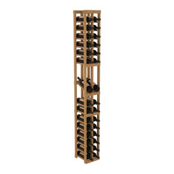Wine Racks America - 2 Column Display Row Wine Cellar Kit in Pine, Oak - Make your best vintage the focal point of your wine cellar. High-reveal display rows create a more intimate setting for avid collectors wine cellars. Our wine cellar kits are constructed to industry-leading standards. You'll be satisfied. We guarantee it.