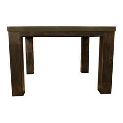 Mortise & Tenon - Pittsburgh Table - Steel top table with vintage aged finish