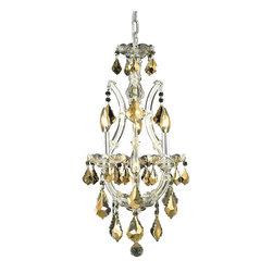 Elegant Lighting - Elegant Lighting 2800D12C-GT/RC Maria Theresa Collection Hanging Fixture - Elegant Lighting 2800D12C-GT/RC Maria Theresa Collection Hanging Fixture