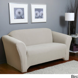 Sure Fit - Piccadilly One-piece Stretch Sofa Slipcover - Transform your furniture into beautiful accent pieces with this Piccadilly sofa one-piece stretch cover. The durable fabric adds beauty and style to your home and is strong enough to stand up to kids and pets.