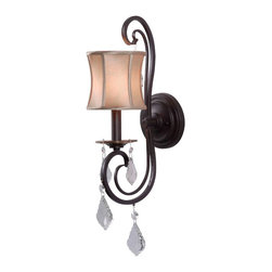 World Imports - Annelise 1-Light Wall Sconce, Bronze - One light wall sconce