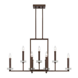 Designers Fountain - Fieldhouse 9 Light Island Billiard Fixture - Featuring an impressive nine lights on two separate tiers, this beautiful island / billiard fixture will add a perfect rustic style to any dining room, game room, or entry way. Their philosophy is to continue to provide the highest quality products to meet all your lighting needs. Headquartered in a state-of-the-art 225,000 square foot facility in the Los Angeles area.