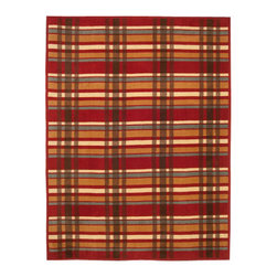 "ChappyWrap - Tartan Plaid Rosewood/Multi Tartan Plaid Patterend Blanket - ChappyWraps are produced by expert craftsmen using only the finest materials with a signature cotton blend jacquard weave created to last a lifetime. These irresistibly soft blankets are perfect for a cool day on the boat, a fall soccer game, snuggling in bed or sitting by a fire. ChappyWraps are 60% cotton to provide extra fluffiness, 33% acrylic and 7% polyester to prevent shrinkage and pilling, 60"" x 80"" to cover you from head to toe, reversible, machine washable and extremely durable. Wash them and they keep their fluffy feel coming out of the laundry like new, year after year."