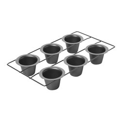 Chicago Metallic - Chicago Metallic 6-Cup Popover Pan - Yorkshire pudding lovers rejoice! Perfect popovers need the perfect pan. Most pans let the batter run, creating a messy looking popover and an even messier cleanup. This pan lets the air circulate creating a towering popover. Just as it should be.