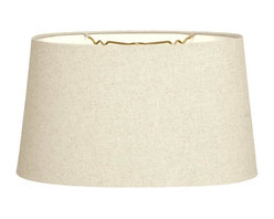 """""""Royal Designs, Inc"""" - Shallow Oval Hardback Lampshade - """"This Shallow Oval Hardback Lampshade - Linen Beige 12 x 14 x 8.5 is a part of Royal Designs, Inc. Timeless Hardback Lampshade Collection and is perfect for anyone who is looking for a simple yet stunning lampshade. Royal Designs has been in the lampshade business since 1993 with their multiple shade lines that exemplify handcrafted quality and value."""