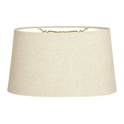 """Royal Designs, Inc"" - Shallow Oval Hardback Lampshade - ""This Shallow Oval Hardback Lampshade - Linen Beige 12 x 14 x 8.5 is a part of Royal Designs, Inc. Timeless Hardback Lampshade Collection and is perfect for anyone who is looking for a simple yet stunning lampshade. Royal Designs has been in the lampshade business since 1993 with their multiple shade lines that exemplify handcrafted quality and value."