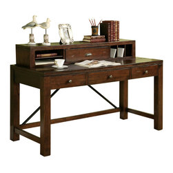 Riverside Furniture - Riverside Furniture Castlewood Writing Desk with Hutch in Warm Tobacco - Riverside Furniture - Writing Desks - 3353033536KIT - Riverside's products are designed and constructed for use in the home and are generally not intended for rental commercial institutional or other applications not considered to be household usage.