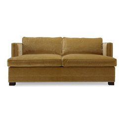 Keaton Super Luxe Queen Sleeper - Sumptuous velvet upholstery and nailhead trim make this the luxurious pick. It feels modern but not cold.