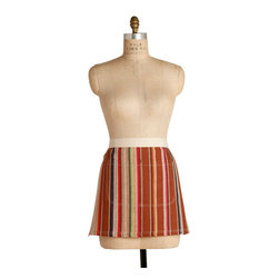 Birdkage - Dune Mini Half Apron - Earn your stripes. From cooking to crafts, you'll stay tidy and organized with this half apron made in New York. Pockets, reinforced with blue jean rivets, hold recipes, candle lighters or floral snips right where you need them. The apron features a natural cotton webbed waistband and contrasting topstitching. And it even comes packaged in a reusable cotton drawstring bag — a perfect gift for the cooks and crafty friends on your list.