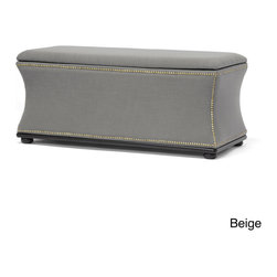 Baxton Studio - Baxton Studio Liverpool Linen Modern Storage Ottoman and Bench - Add style and functionality to any space with this storage ottoman bench. The beautiful bench has linen upholstery and a button-tufted design that gives it an elegant look. Use the extra-large interior to store games, toys, books, or blankets.