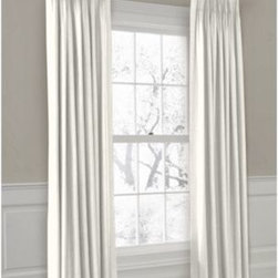 Ivory Lightweight Linen Custom Pleated Drape Single Panel - Luxury meets functionality, tradition meets modernity in the Euro Pleated Drapery. Top-gathered pleats create a waterfall effect for an updated take on the classic pleat that's perfect for classic and modern rooms alike. We love it in this luxurious lightweight linen blend with characteristic slubs in ivory.  Linen cotton blend will resist wrinkles.