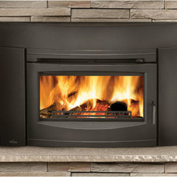 Wolf Steel - EPI3C Napoleon Contemporary Flush Front Minimum Woodburning Insert, Metallic Bla - - Heats up to 1,500 sq. ft (55,000 BTUs), 1.8 cu. ft. firebox  - EPA certified to be one of the cleanest burning wood inserts available  - Cast iron surround included  - Largest ceramic glass viewing area in the industry, 300 sq. in.  -  Airwash system ke