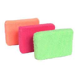 Casabella Microfiber Sponges - These Casabella sponges are made of super absorbant microfiber. They are effective and efficient  and will give you a brilliantly clean result.Product Features                        Super absorbant microfiber            Includes orange  plum and lime colors            Durable & long lasting