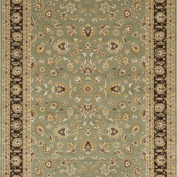 "Loloi Rugs - Loloi Rugs Welbourne Collection - Sage / Coffee, 2'-3"" x 3'-9"" - The Welbourne Collection features a more traditional design with up-to-date colors and styles. Most notably, its densely woven construction contributes to the superior quality of this new power-loomed collection. There is a variety of sizes and color combinations available."