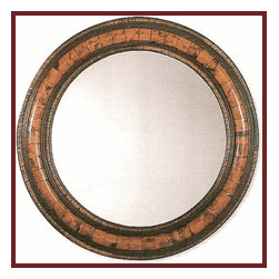 Round Bamboo Mirror - This bamboo and rattan mirror has a richness and depth that comes from the beautiful texture of the bamboo and rattan materials.  Its size makes it ideal to hang over a chest, vanity or as an accent piece on a living room wall.