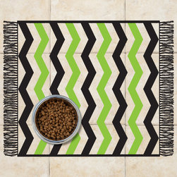 Sniff It Out Designer Pet Mats - Chevron Pet Food Mat, Small - Premium-quality clear vinyl mats uniquely designed to resemble beautiful art painted directly onto your floor. The smoothness of the vinyl allows for easy cleanup and lays perfectly flat. Sniff It Out Pet Mats make great gifts and will be a conversation piece that your friends and family won't stop talking about. Made in the USA.