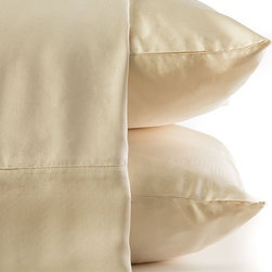 BambooDreams® - Bamboo Dreams® Luxe Sateen Sheet Set, Twin XL, Pearl - The 300 thread count sateen feels so heavenly soft you will dream you are sleeping in the clouds. Made from the world's most renewable resource, this bedding is exquisitely sensuous and silky while also a thoughtful ecological choice. No anti-wrinkling agents or chemicals added. The more you use and wash them, the softer they become. We invite you to experience the pleasure of heavenly linens with earthly values.