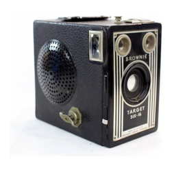 LightAndTimeArt - Steampunk Portable Wireless Bluetooth Speaker 5-Kodak Target Brownie, Target Six - If you like the latest technology and vintage design – this intriguing design piece is for you.