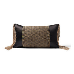 Frontgate - Milano Tassle Decorative Pillow - Tassel Decorative Pillow is 67% rayon/32% cotton/1% nylon. Dry clean. Made in the USA of imported fabrics. Imagine waking up in an Italian inn during the autumnal harvest and you will experience the essence of the Milano Bedding Ensemble. Decorative pillows feature lavish piecings and trimmings. . . .