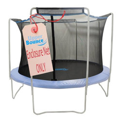 King Service Holding Inc - Upper Bounce 15 ft. Trampoline Enclosure Net Fit for Arches Multicolor - UBNET-1 - Shop for Trampoline Accessories from Hayneedle.com! Secure your child s bouncing time with the Upper Bounce 15 ft. Trampoline Enclosure Net - Fit for 4 Arches. The net is attached between the jumping mat and the trampoline pad. It has dual entry areas with zippers and buckles which are located between two poles. The net neatly lies on the top of the arches and bars while at the bottom it connects to V rings with clips enhancing its safety aspect.