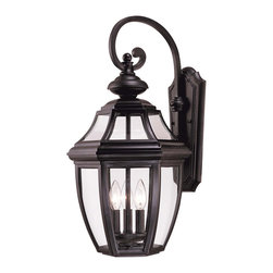 Savoy House - Savoy House 5-493-BK Endorado Wall Mount Lantern - A builder?s dream for outdoor lighting! A classic, traditional look as economical as it is versatile. Black finish with Clear glass.