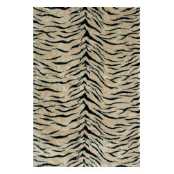 Loloi Rugs - Loloi Rugs Danso Tiger Shag Rug X-670500RT30-ADSNAD - Chic safari animal prints are reinterpreted into ultra soft faux fur rugs in the Danso Collection. Made in China of 100% poly-acrylic, Danso's rich solids or cheetah, zebra, and tiger patterns are available in trend right colors that set these rugs ahead of the pack.