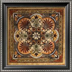 Artcom - Italian Tile I by Ruth Franks - Italian Tile I by Ruth Franks is a Framed Art Print set with a PARMA Black wood frame.