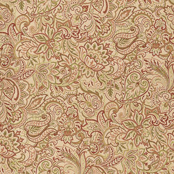 """Ballard Designs - Tuscan Paisley Rust Sunbrella Fabric by the Yard - Content: 100% Sunbrella® Acrylic. Repeat: Non-railroaded fabric with 28"""" repeat. Care: Spot clean with mild soap. Width: 54"""" wide. Beige, rust and green floral paisley woven in thick washable, fade-resistant Sunbrella acrylic. Content: 100% Sunbrella Acrylic .  .  . Width: 54"""" wide . Because fabrics are available in whole-yard increments only, please round your yardage up to the next whole number if your project calls for fractions of a yard. To order fabric for Ballard Customer's-Own-Material (COM) items, please refer to the order instructions provided for each product. Ballard offers free fabric swatches: $5.95 Shipping and Processing, ten swatch maximum. Sorry, cut fabric is non-returnable."""