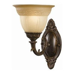 Crystorama Lighting - Crystorama Lighting 6301-A-VB Oxford Transitional Sconce in Venetian Bronze - Crystorama Lighting 6301-A-VB Oxford Transitional Sconce In Venetian Bronze