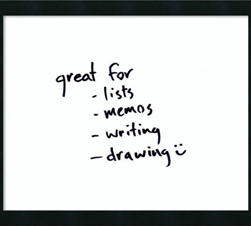 Amanti Art - 'Mezzanotte Glass Dry-Erase Board - Small' Framed Art Print 22 x 18-inch - Perfect for writing and drawing, this glass message board works with standard dry erase markers (not included). This Mezzanotte Glass Dry-Erase Board features a black frame with clean lines for a modern decor look.