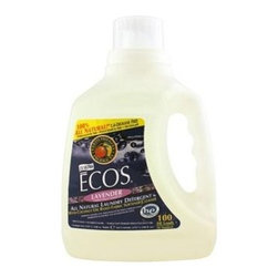 Ecos Ultra 2x All Natural Laundry Detergent - Lavender - 100 Fl Oz - This laundry liquid soap is made entirely from plants, but don't think that makes it any less powerful. Only 1.5 ounces will clean and protect an entire load of your clothes, with built-in fabric softener. Available in Lavender scent, Earth Friendly Products uses only plant-based, recycled, animal-friendly materials to make their many useful, environmentally friendly products, which are biodegradable and non-toxic.