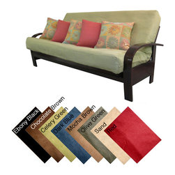 EpicFurnishings - Ultima Full-size Microfiber Soft Suede Futon Cover - Renew the look of your futon with this soft full-size futon cover. Made from polyester and cotton,this cover is designed to fit perfectly whether the mattress is flat or folded up. A zipper closure makes it easy to get this cover on and off.