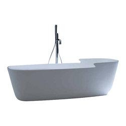 WS Bath Collections - Tino 20 TI 1001 Bathtub - Tino 20 Ti 1001 Free Standing Bathtub by Wes Bath Collections, 70.9 x 35.8 x H 19.7